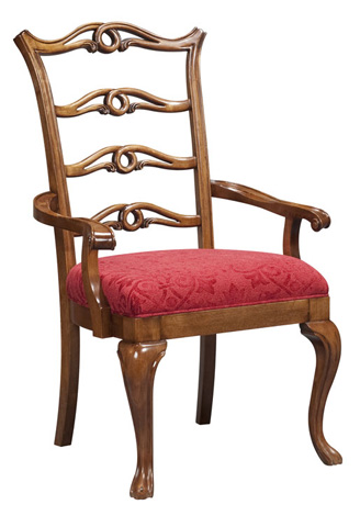 Harden Furniture - Decorative Ladder Back Arm Chair - 504