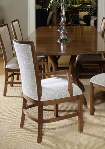 Harden Furniture - Classic Cherry Upholstered Arm Chair - 555