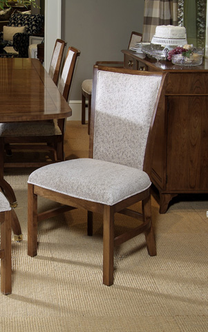 Harden Furniture - Classic Cherry Upholstered Side Chair - 556