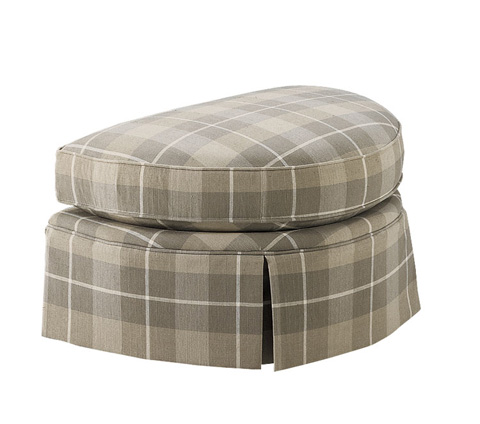 Harden Furniture - Kick Pleat Skirted Ottoman - 8339-000