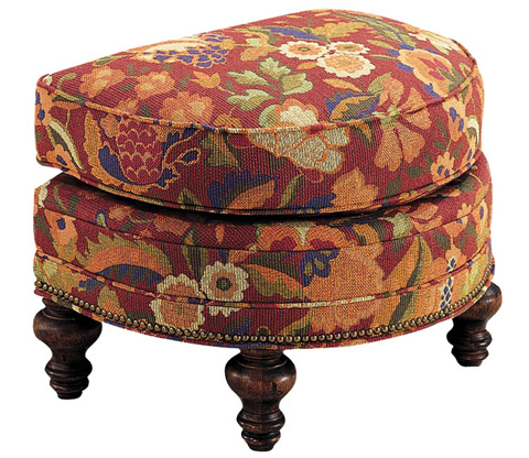 Harden Furniture - Upholstered Ottoman with Turned Legs - 8356-000