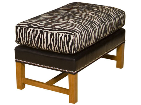 Harden Furniture - Attached Cushion Ottoman with Stretcher - 8394-000