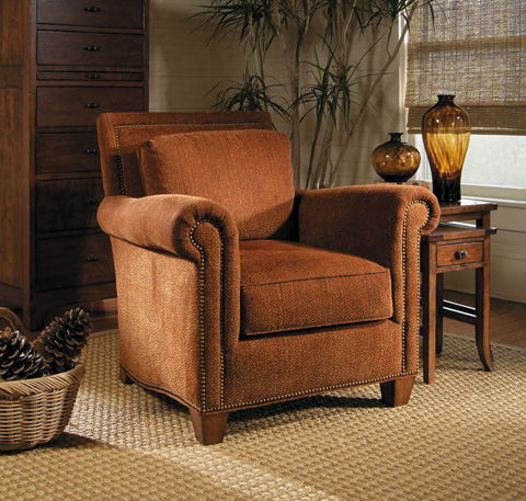 Harden Furniture - Upholstered Arm Chair with Nailhead Trim - 8401-000