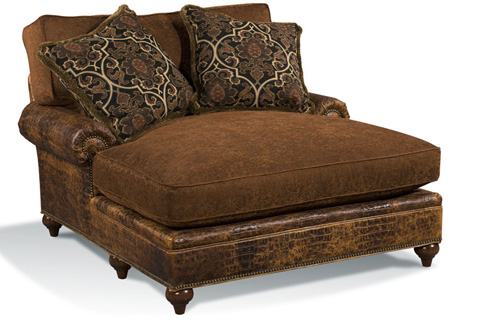 Harden Furniture - Panel Arm Chaise Lounge - 8464-000