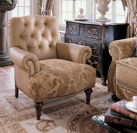 Harden Furniture - Lounge Chair with Spool Turned Legs - 8470-000