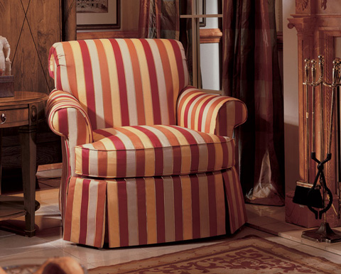 Harden Furniture - Tight Back Arm Chair with Waterfall Skirt - 8471-000