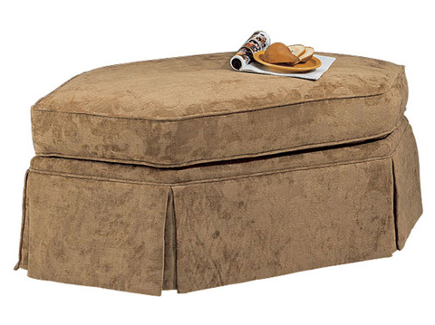Harden Furniture - Wedge Ottoman with Waterfall Skirt - 9333-000