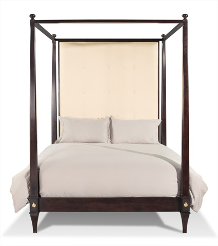 Image of Upholstered Queen Canopy Bed