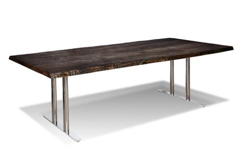 Harden Furniture - Polished Chrome Base Dining Table - 1674-400