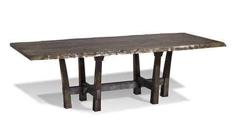 Harden Furniture - Rio Iron Base Dining Table - 1681-400