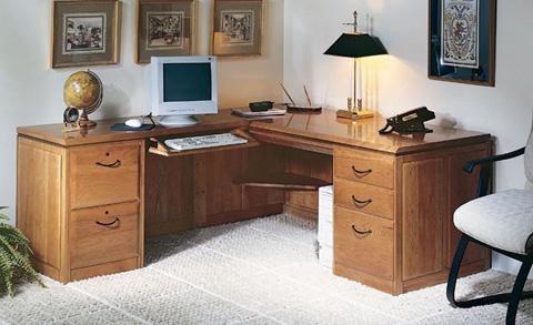 Harden Furniture - Left L-Shaped Desk - 1753