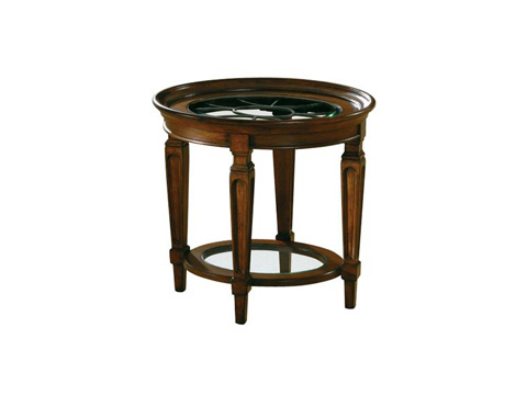 Hekman Furniture - Round Lamp Table with Glass Inserts - 7-2829