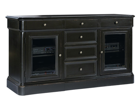 Hekman Furniture - Entertainment Console with Drawers and Glass Doors - 8-1441