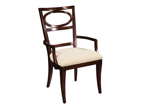 Hekman Furniture - Central Park Oval Back Arm Chair - 2-3124