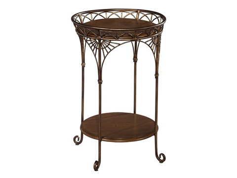 Hekman Furniture - Round Iron Chairside Table - 2-3209