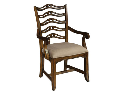 Hekman Furniture - Vintage European Ladder Back Arm Chair - 2-3225