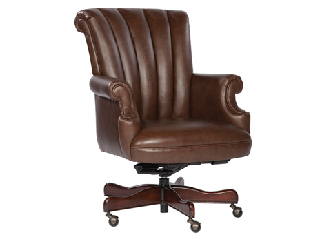 Image of Coffee Leather Executive Chair