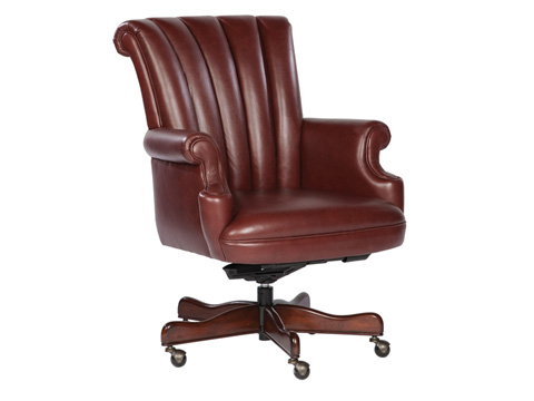Hekman Furniture - Merlot Leather Executive Chair - 7-9251M