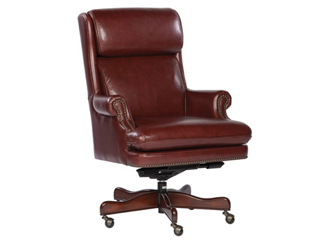 Hekman Furniture - Merlot Leather Executive Chair - 7-9252M