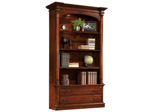 Image of Weathered Cherry Executive Bookcase