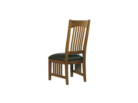 Hekman Furniture - Arts & Crafts Side Chair with Leather Seat - 8-4002