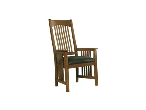 Hekman Furniture - Arts & Crafts Arm Chair with Leather Seat - 8-4003