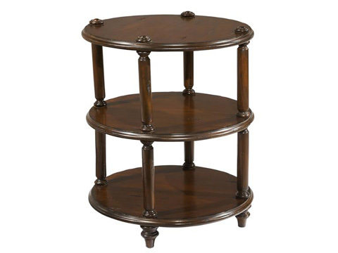 Hekman Furniture - Charleston Place Round 3-Tier Lamp Table - 943708CP