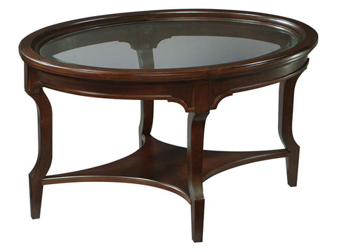 Hekman Furniture - New Traditions Oval Glass Coffee Table - 951202NT