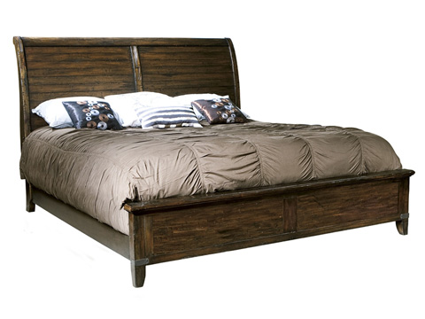 Hekman Furniture - Rustic Hardwood Harbor Springs King Sleigh Bed - 941507RH/941509RH