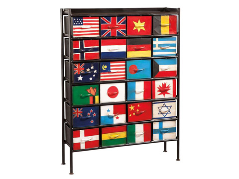 Image of 24 Flag Bunting Chest