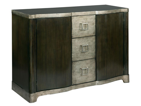 Image of Serpentine Door Chest With Drawers