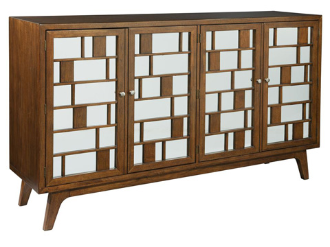 Hekman Furniture - Mid Century Modern Entertainment Console - 2-7445