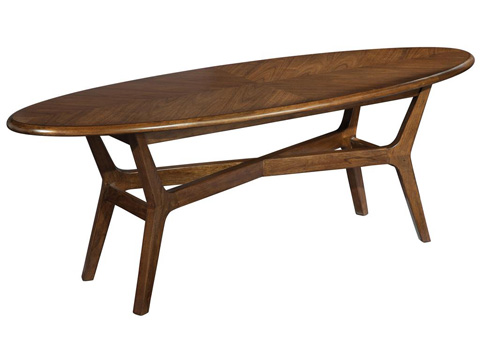 Image of Mid Century Modern Surfboard Coffee Table