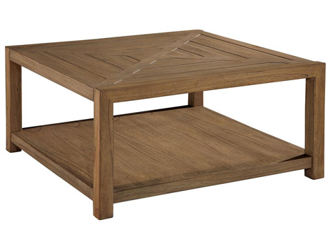 Image of Weathered Transitions Square Coffee Table
