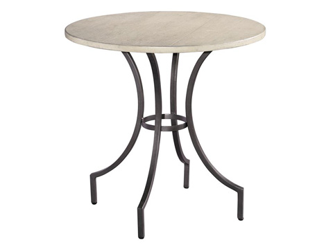 Hekman Furniture - Homestead Primitive Round Iron Lamp Table - 1-2210LN