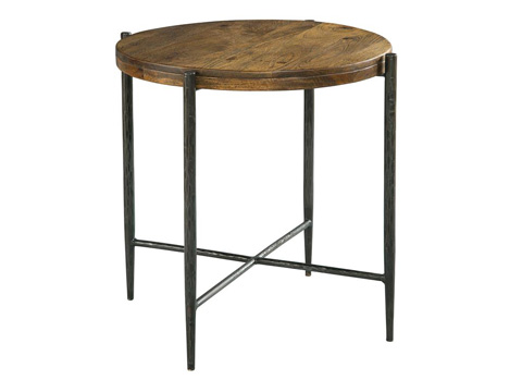 Hekman Furniture - Metal and Wood End Table - 2-7497