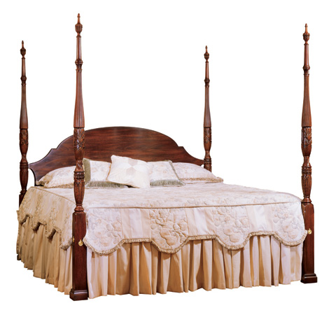 Image of King Rice Carved Bed