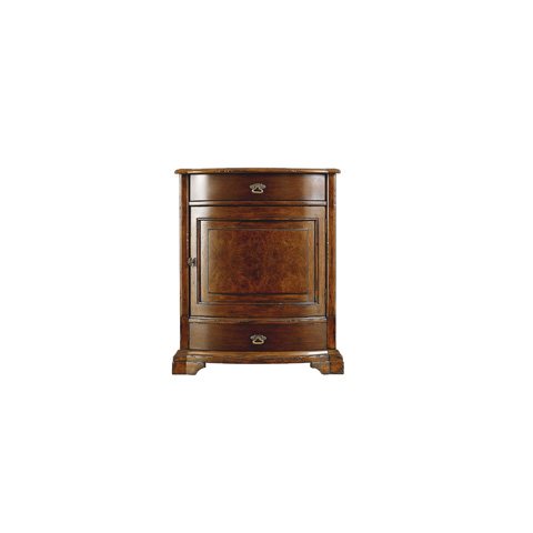 Image of Bowfront Drawer Cabinet Nightstand