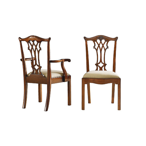 Image of Chippendale Style Arm Chair