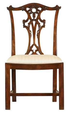 Image of Pierced Splat Back Side Chair