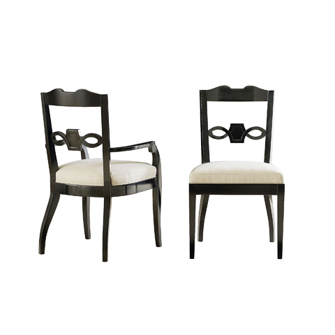 Henredon - Deveral Black Arm Chair - 3301-27