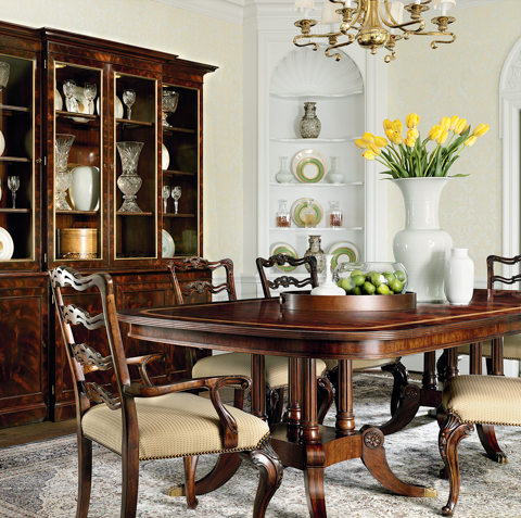 Image of Double Birdcage Pedestal Dining Table