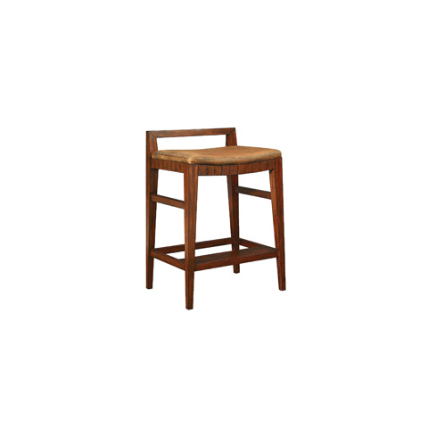 Image of Leather Seat Barstool