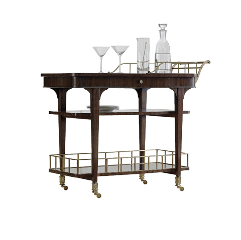 Image of Serving Bar Cart with Shelves