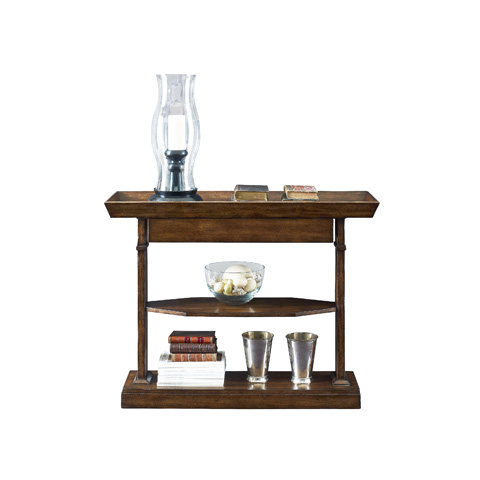 Henredon - Small Console with Shelves - 3400-44