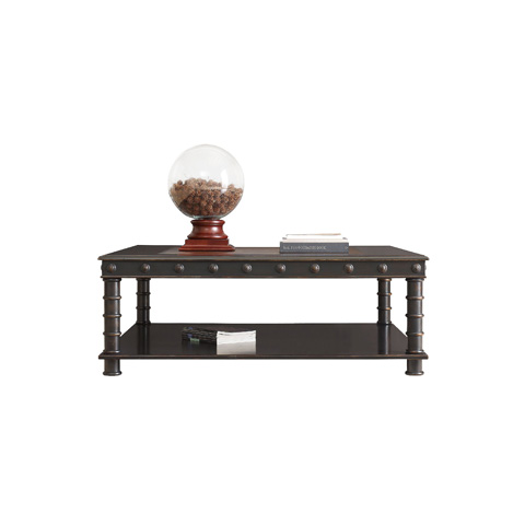 Henredon - Square Cocktail Table with Leather Top - 3401-40