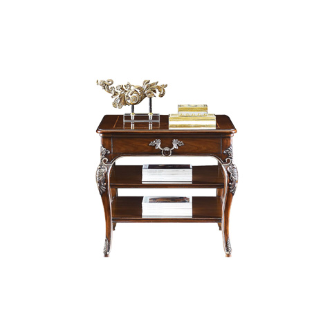 Henredon - Square Lamp Table with Shelves - 5040-42