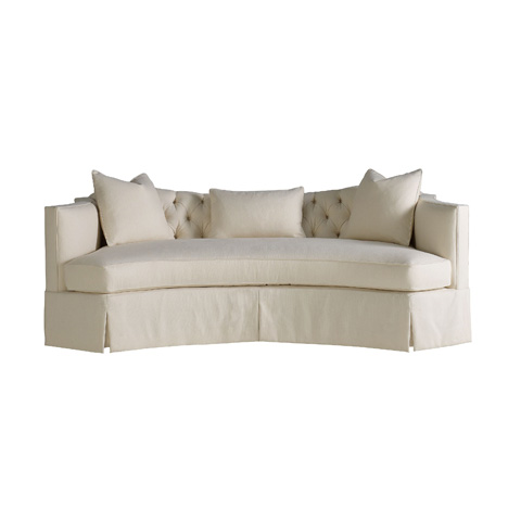Image of Serpentine Short Sofa with Tufted Back