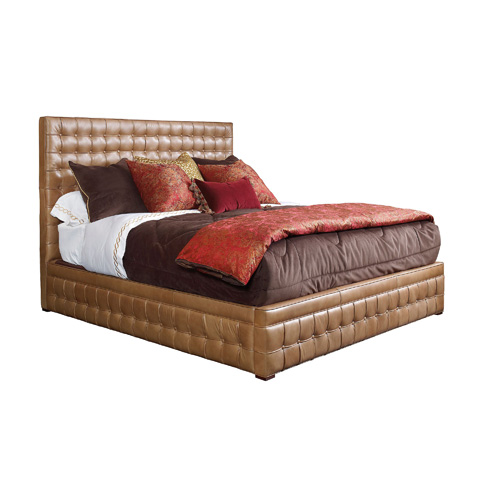 Image of King Tufted Panel Bed