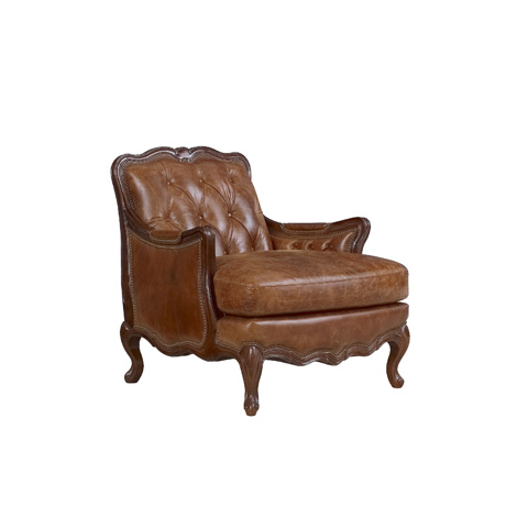 Henredon - Tufted Arm Chair with Exposed Frame - IL8835